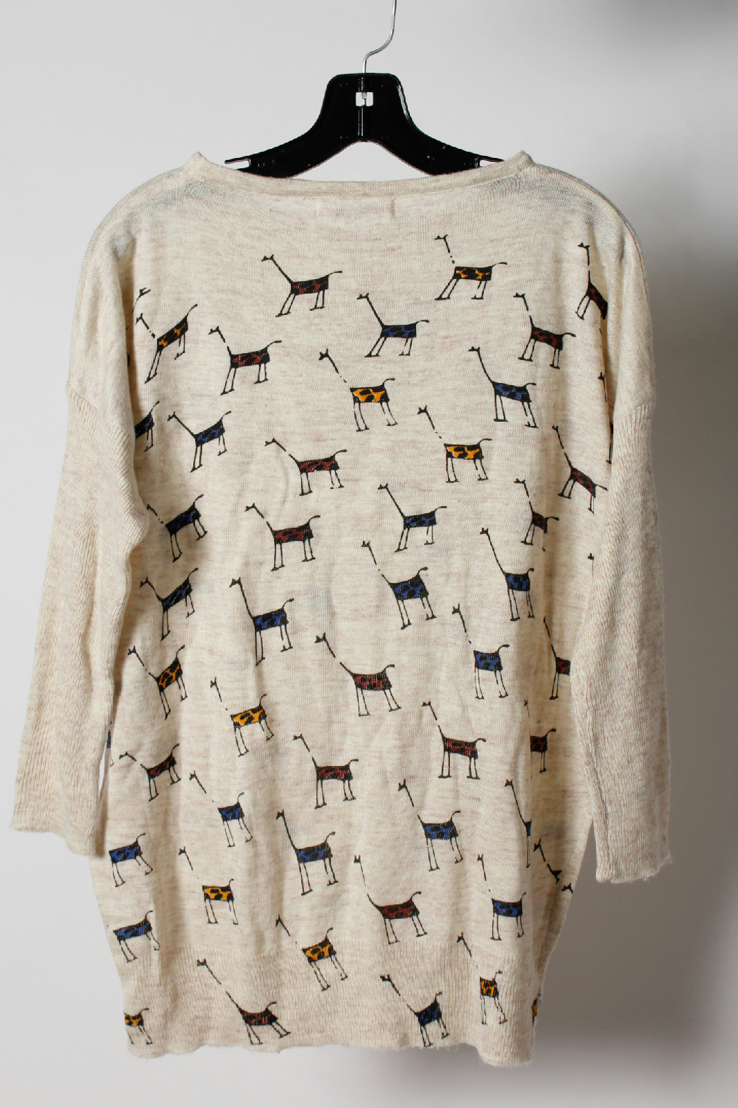 NWT Paper Plane Multi Color Knit Giraffe Batwing Sleeve ...