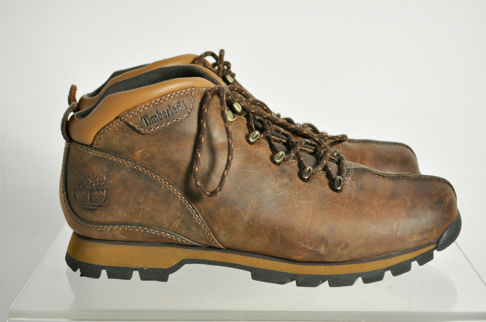 timberland brown hiking boots size 8 m