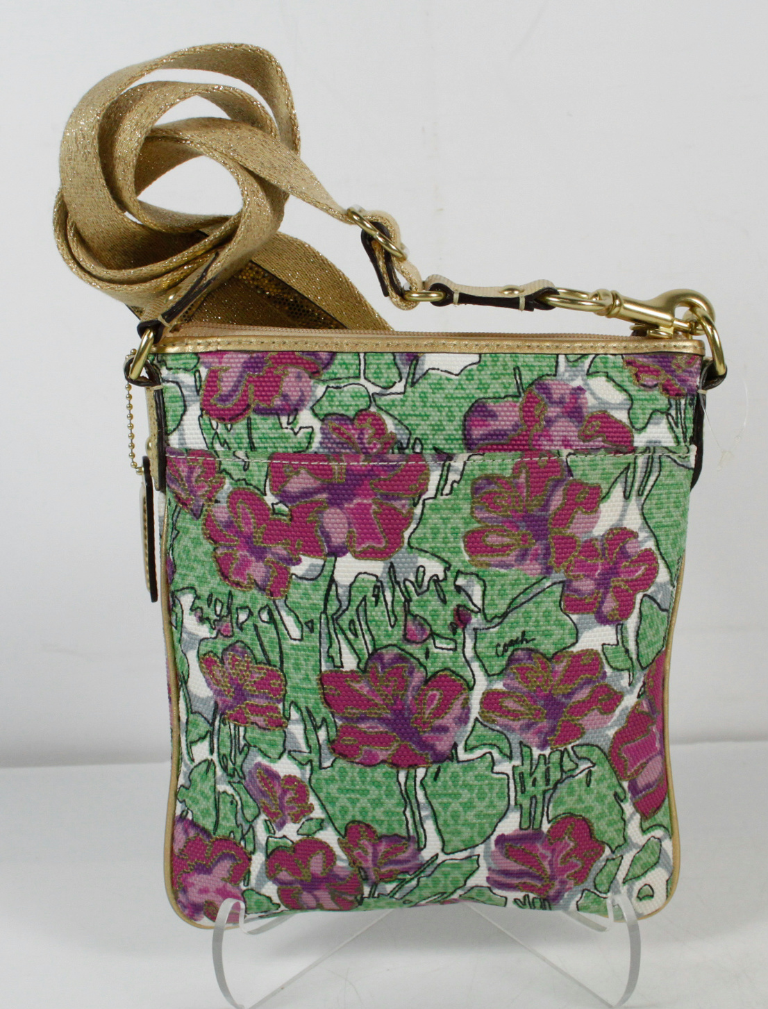 Coach Floral Multi-Color Crossbody Shoulder Handbag | EBay