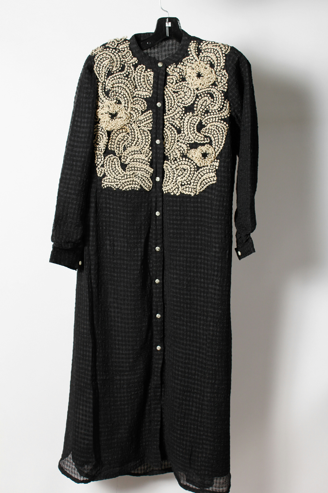 Vintage Black Layered Embroidered Caftan Jacket | EBay