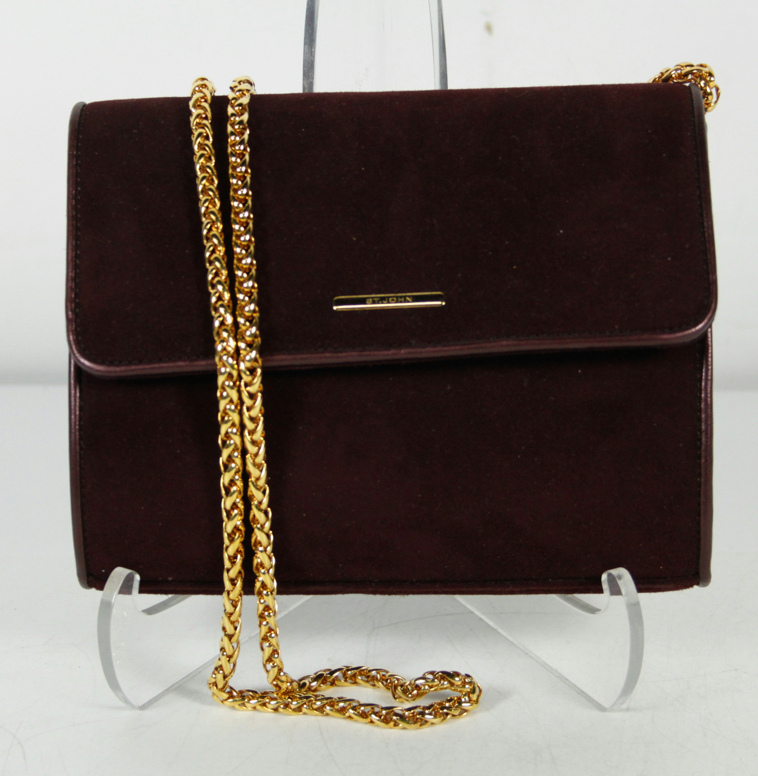 fba3b67399a9 Suede Crossbody Bag With Gold Chain | Stanford Center for ...