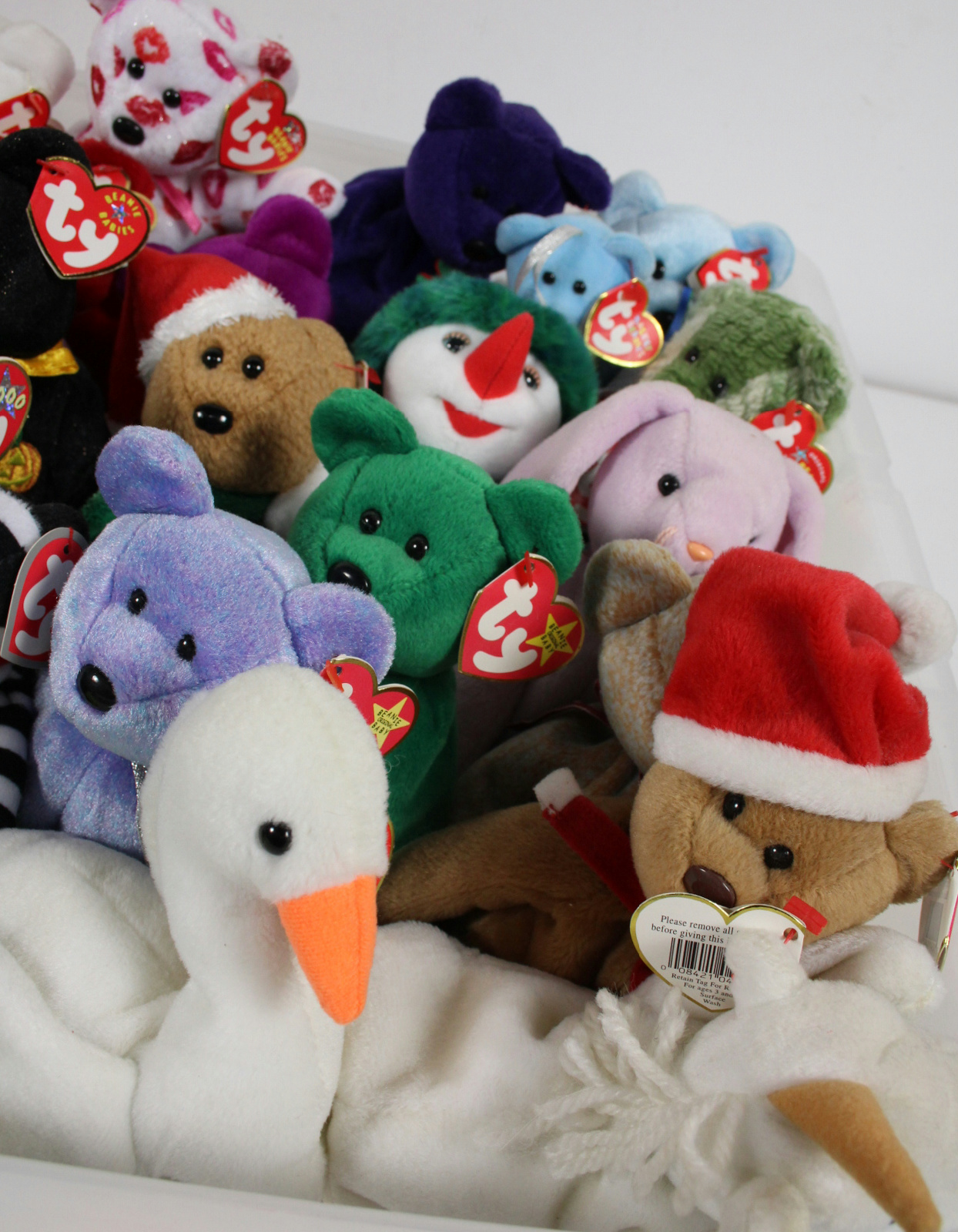 54 mixed ty beanie babies teenie babies collection lot ebay. Black Bedroom Furniture Sets. Home Design Ideas