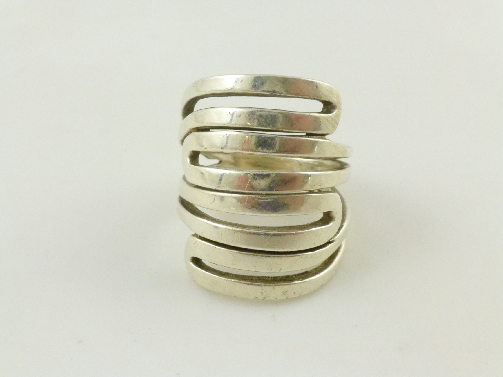 silpada sterling silver tapered cigar band ring sz 7 5