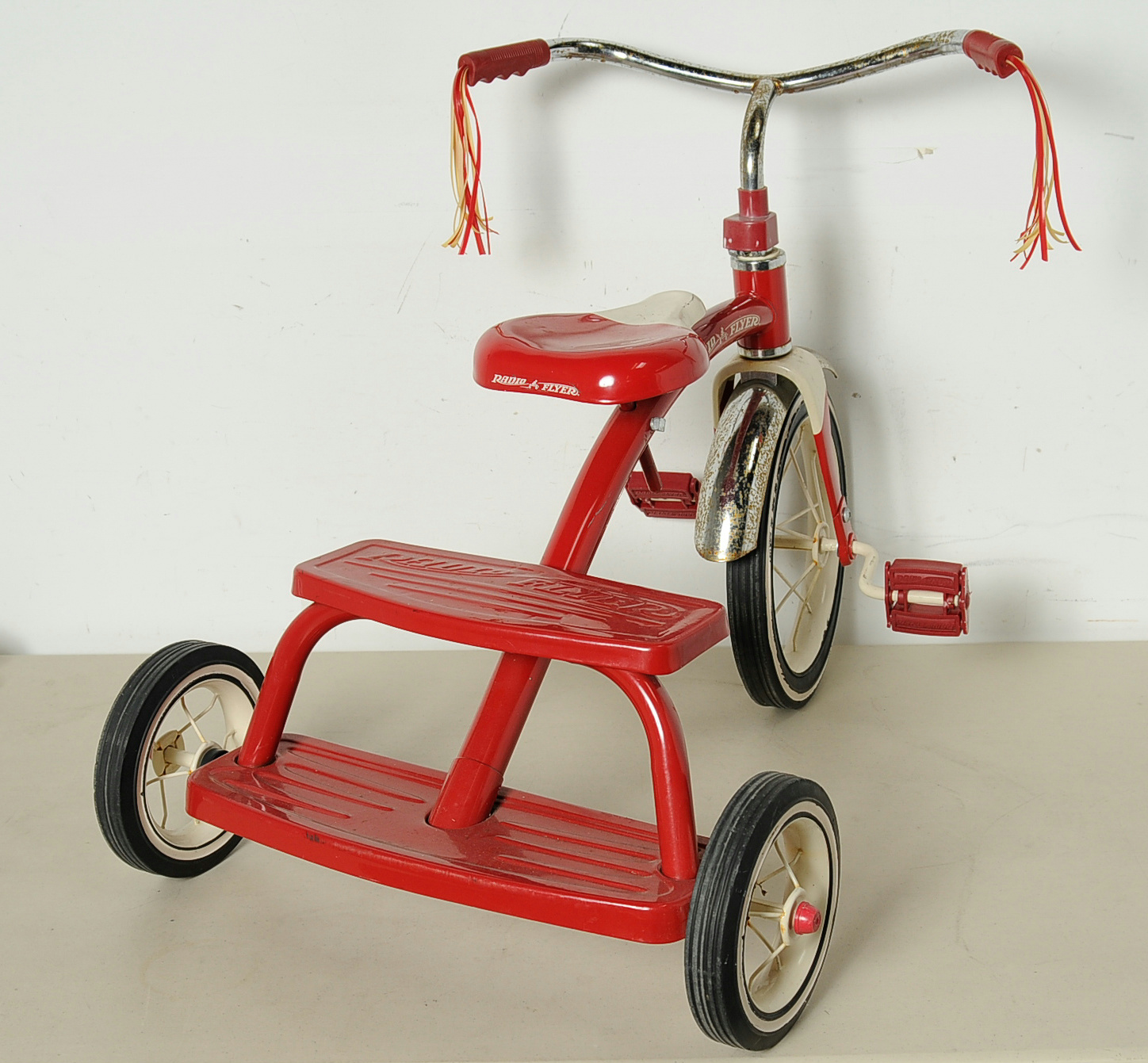 Radio Flyer Child Tricycle Retro Red Steel Frame Dual Deck