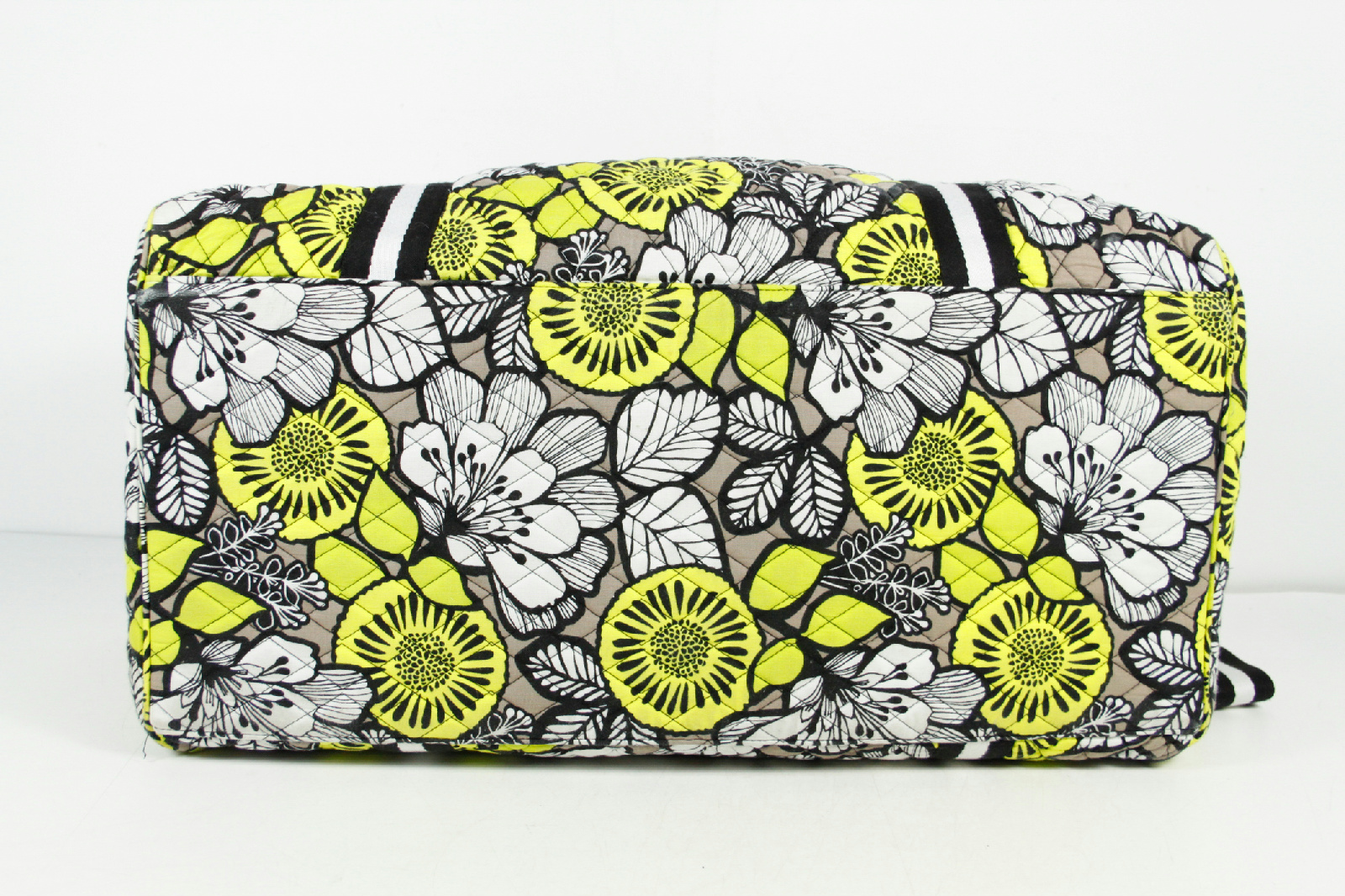 Vera Bradley Yellow Black White Floral Pattern Quilted