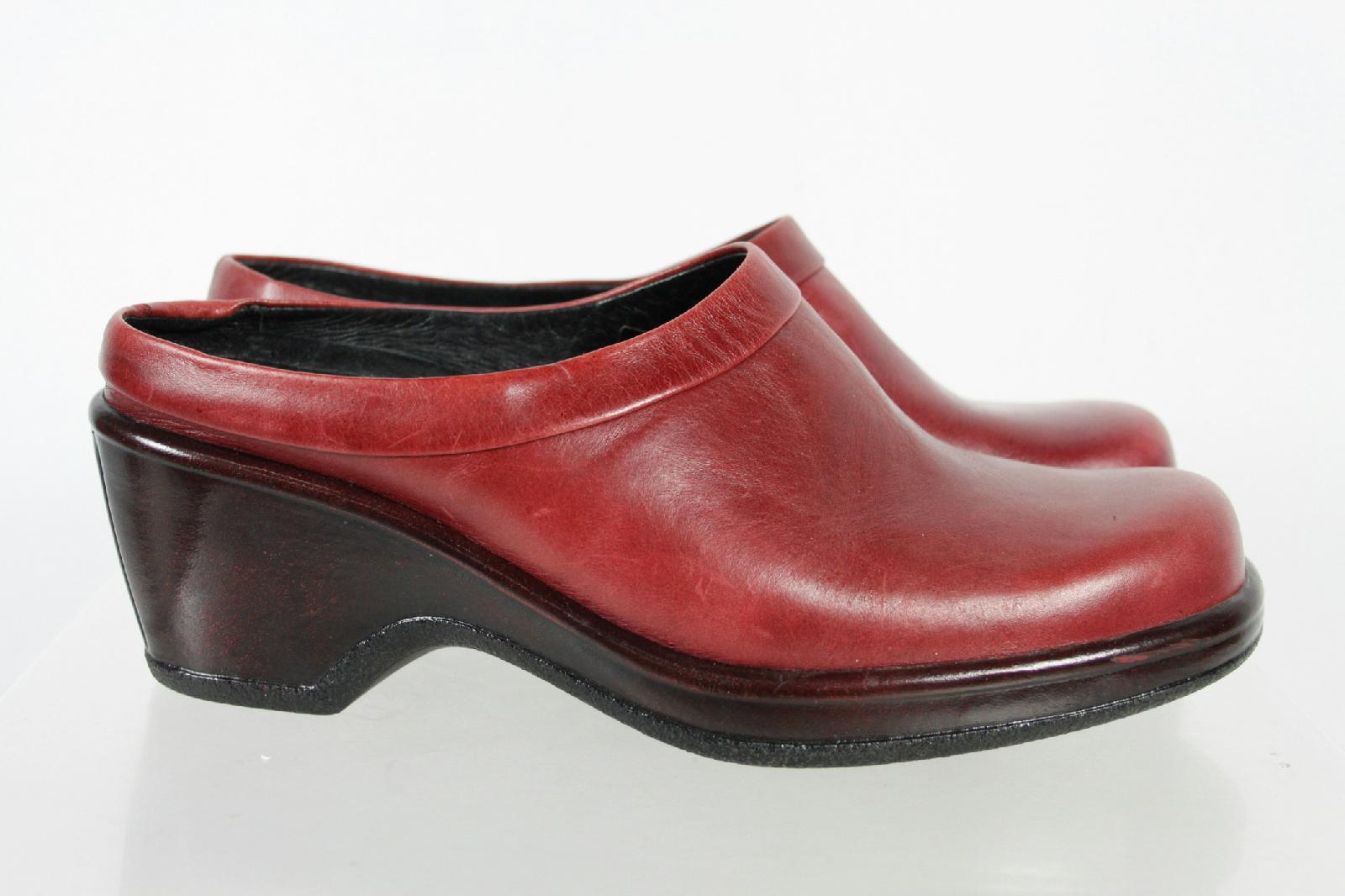 dansko black slip on sole clogs shoes size 38 ebay