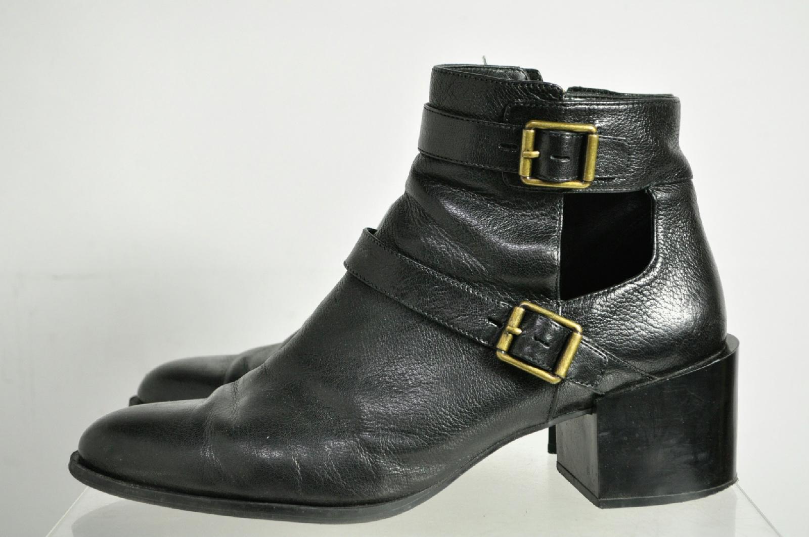nine west black zipper ankle boots size 12m