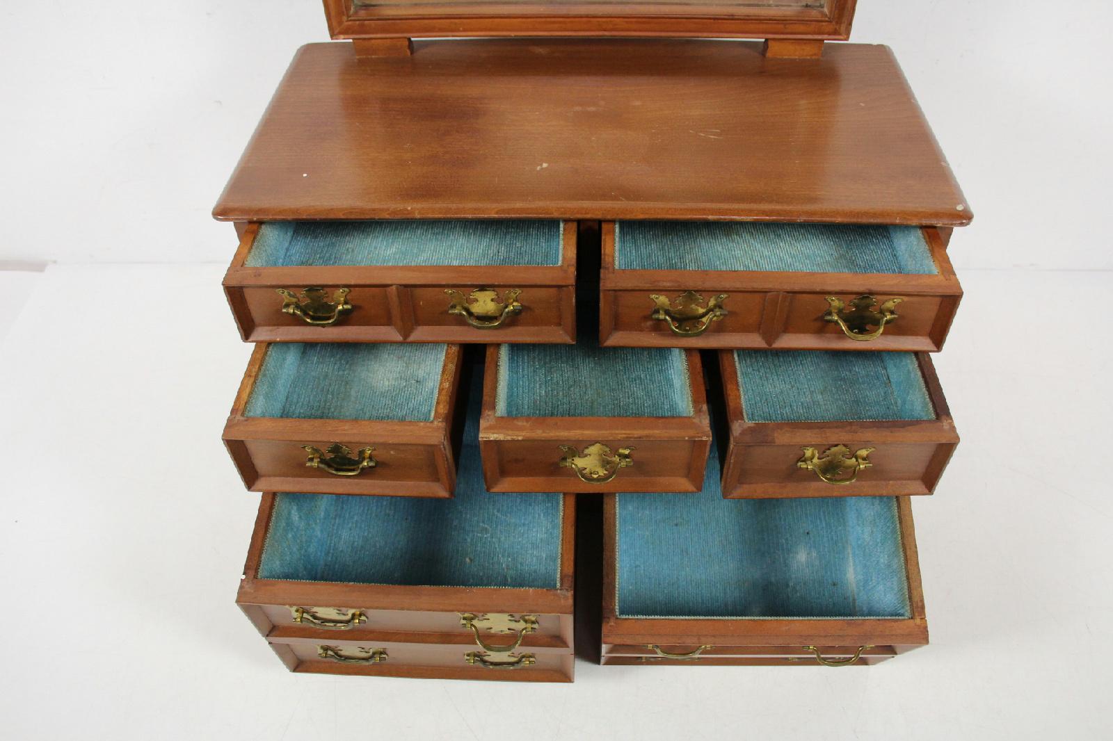 vintage mele japan wood table top chest drawers jewelry storage organizer box ebay. Black Bedroom Furniture Sets. Home Design Ideas