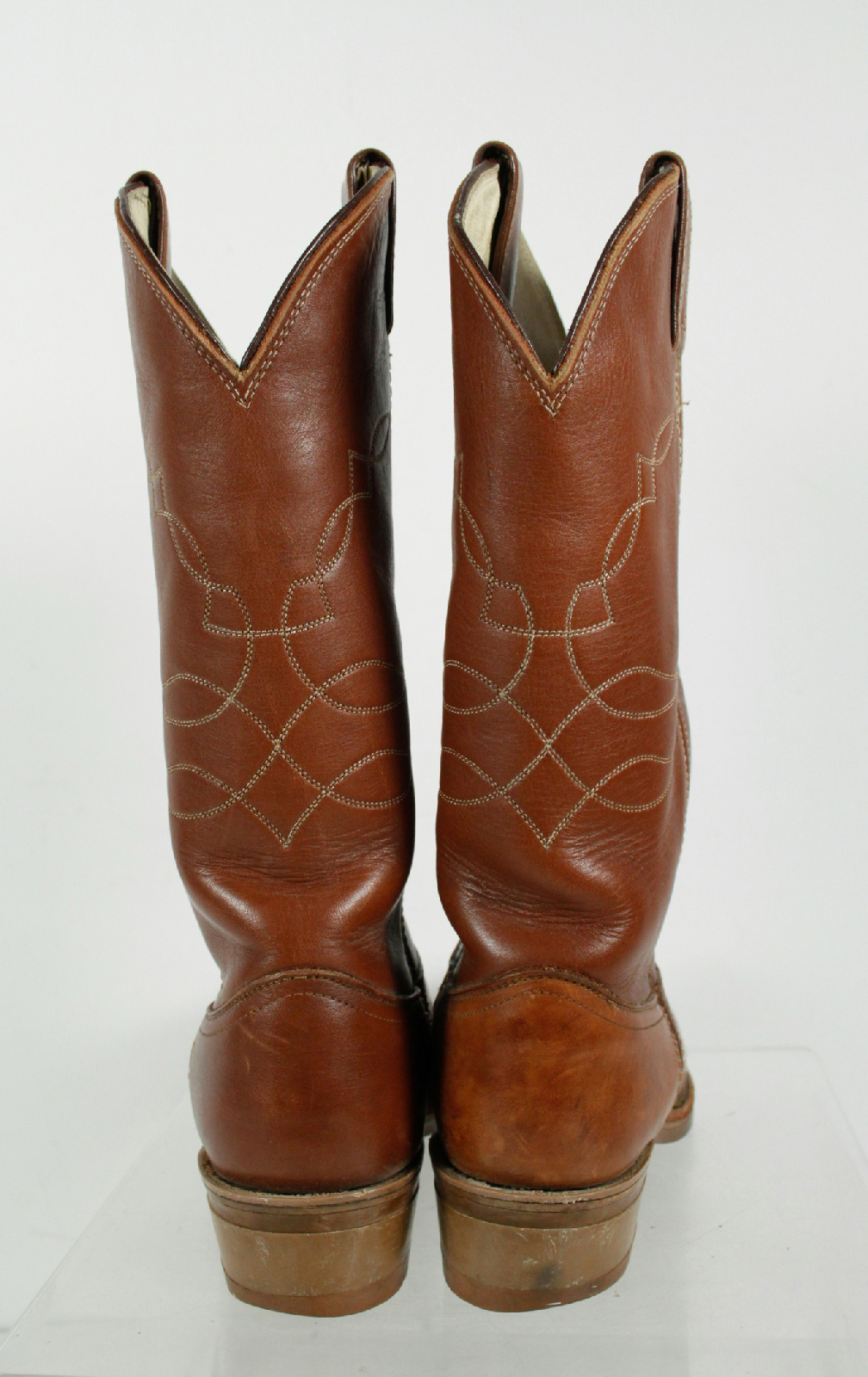 justin brown leather embroidery design no heel cowboy
