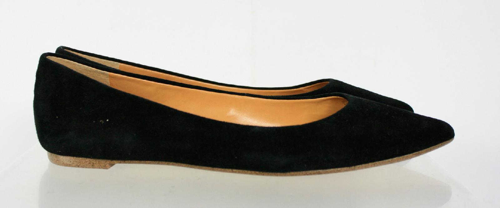 j crew black velvet pointy slip on flat shoes size 8 5 ebay