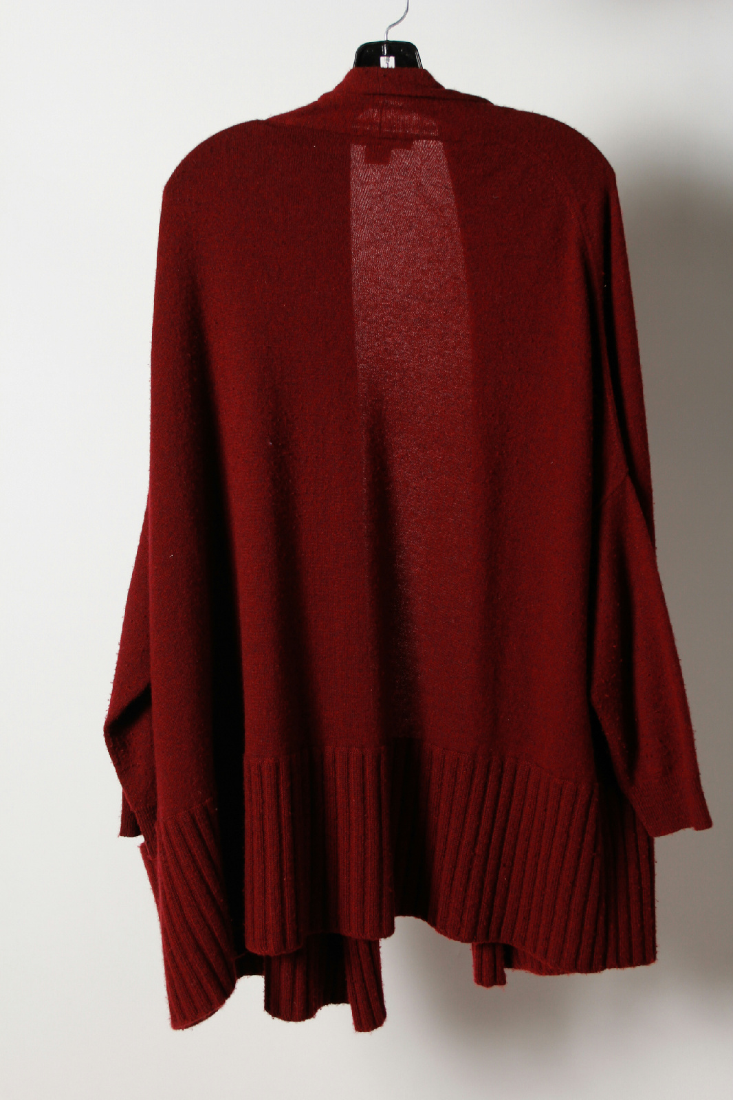 Michael Kors Red Cashmere Open Front Long Sleeve Cardigan ...