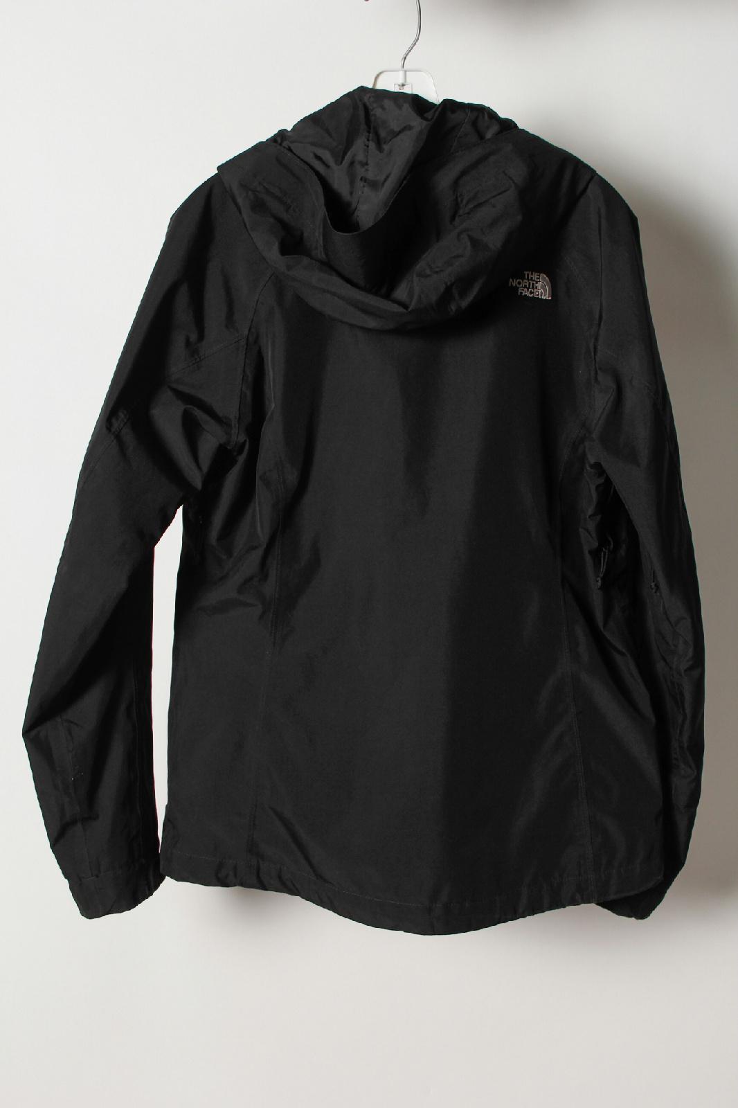 the north face hyvent black hood zip up windbreaker jacket. Black Bedroom Furniture Sets. Home Design Ideas