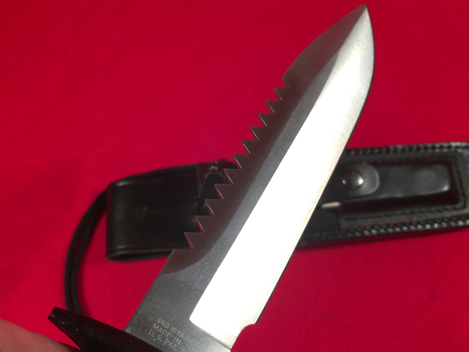 Life Knife Lifeknife Commando Stainless Survival Knives W Sheath Made In Japan Ebay