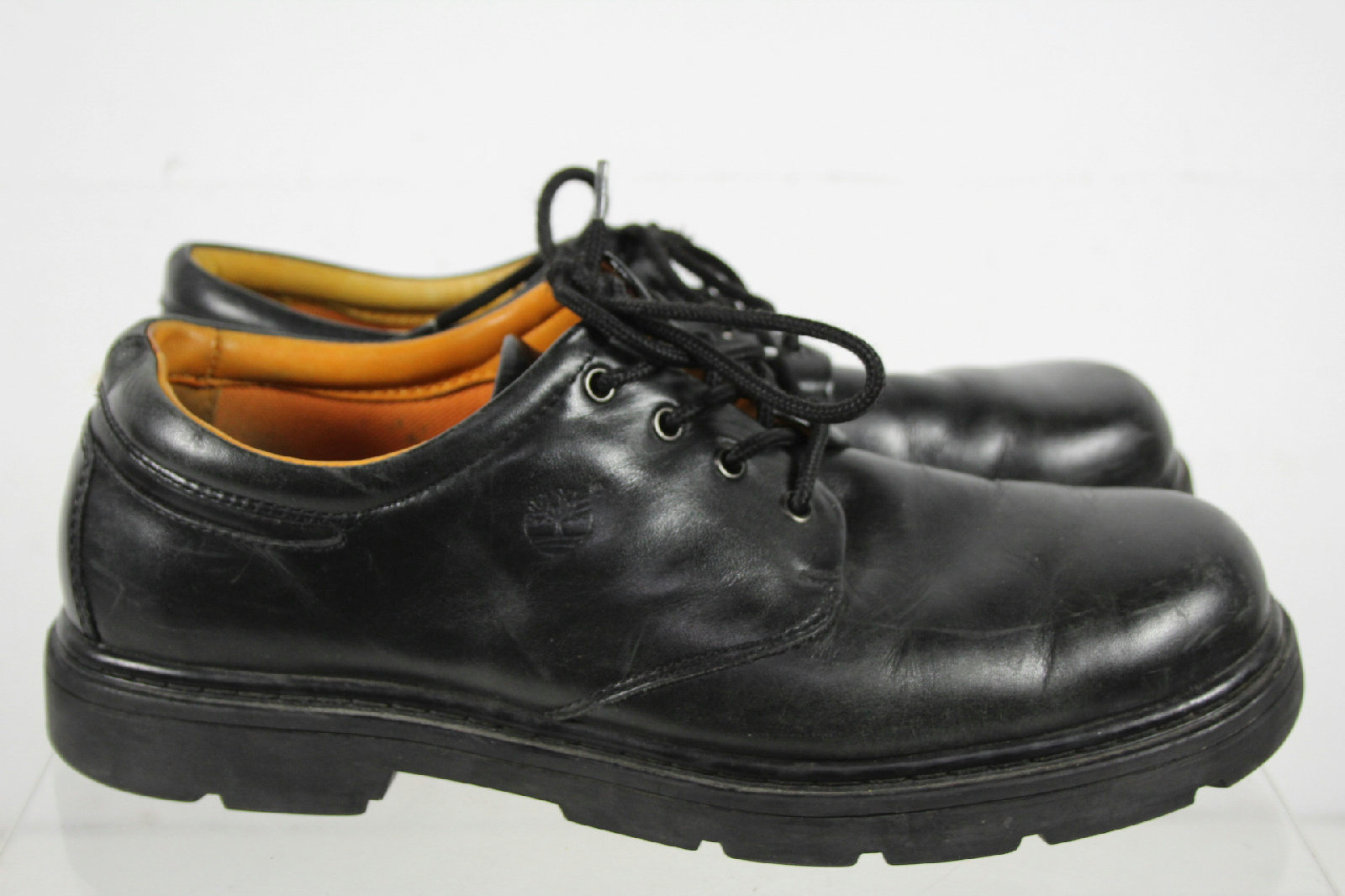 timberland solid black toe laces low top shoes size