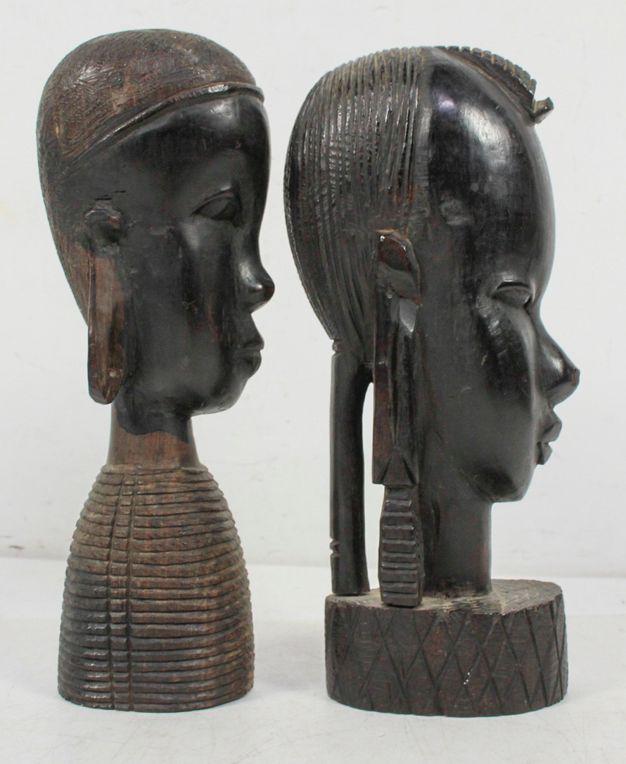 Vintage hand carved besmo kenya wood african statue