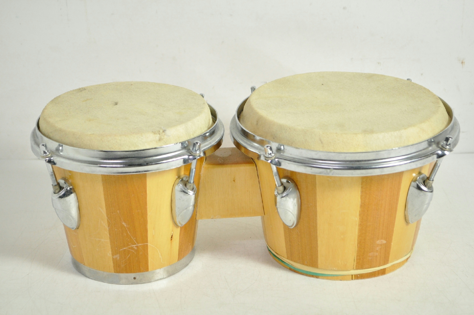 Wooden percussion bongo