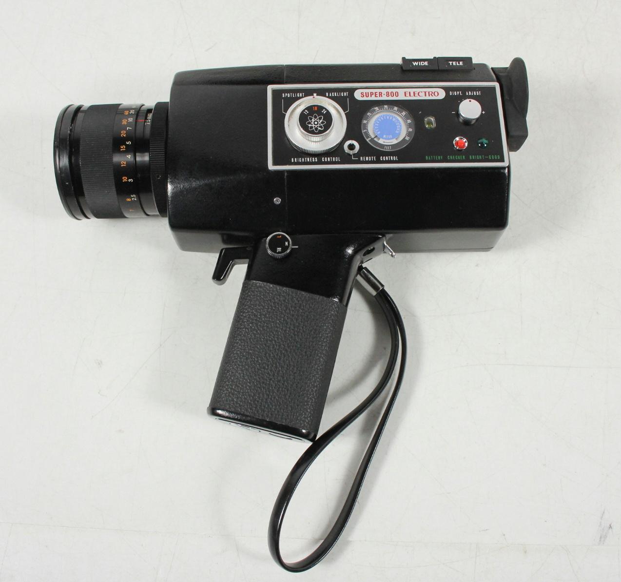 vintage yashica super 8 film cartridge type model super 800 electro movie camera ebay. Black Bedroom Furniture Sets. Home Design Ideas