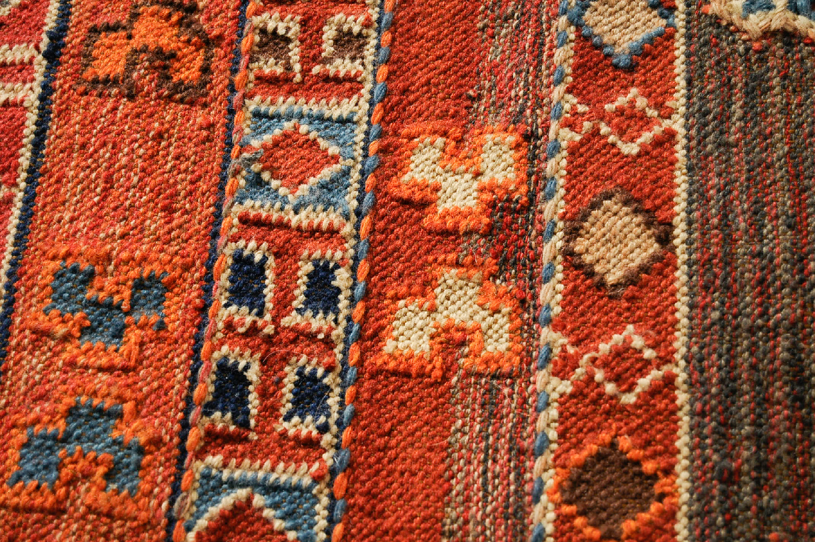Vintage Middle Eastern 60 Inch X 99 Inch Embroidered Hand