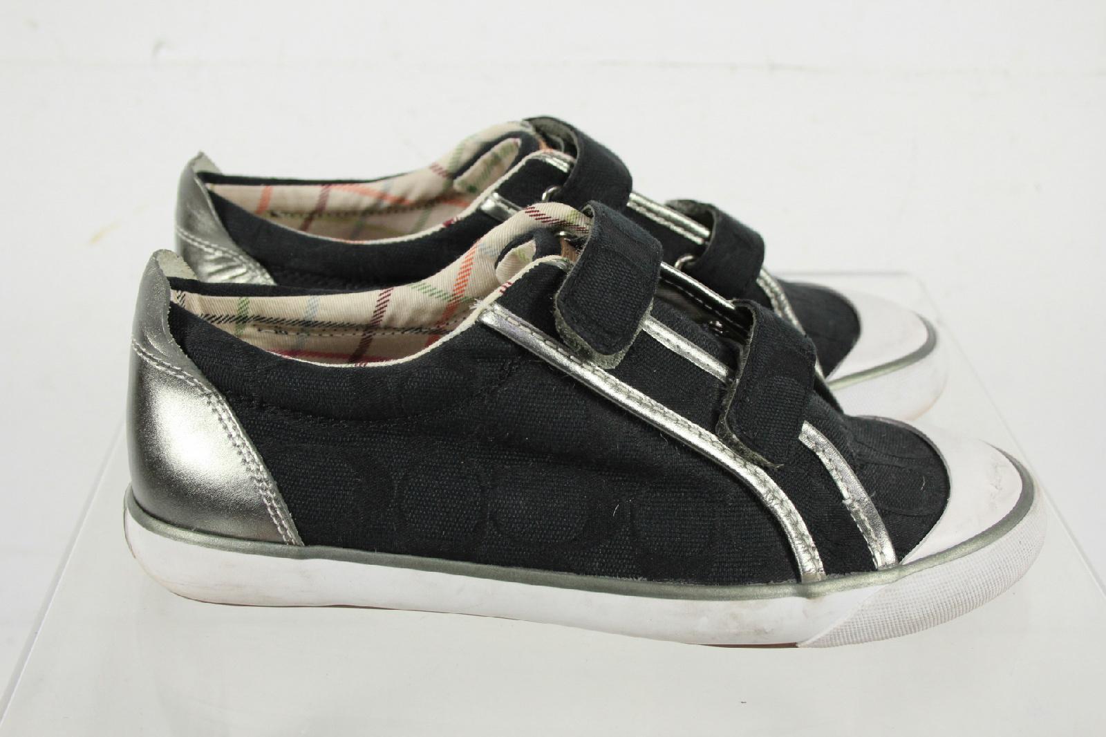coach britt black canvas signature sneakers size 7 b