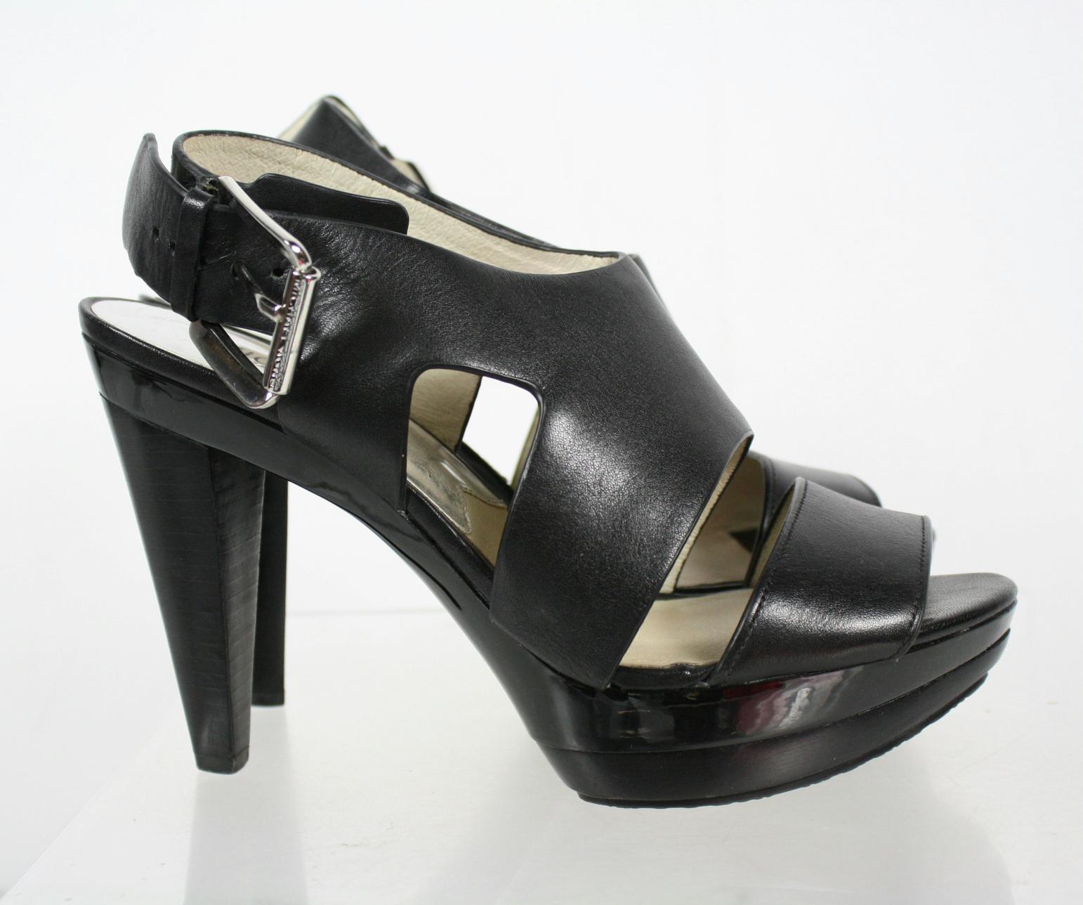 michael michael kors black buckle ankle boots size 8 5m ebay. Black Bedroom Furniture Sets. Home Design Ideas