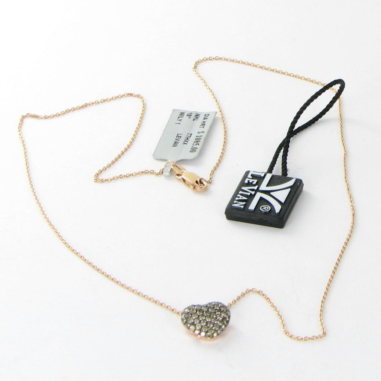 le vian chocolate diamond heart pendant necklace. Black Bedroom Furniture Sets. Home Design Ideas