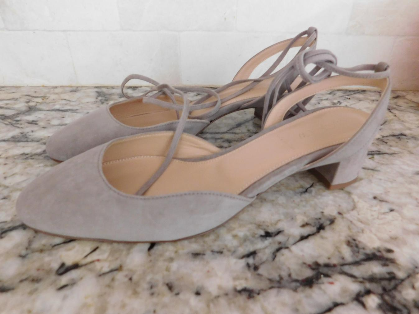 JCrew-178-Ankle-Wrap-Slingback-Heels-in-Suede-G4095-8-5-Antique-Dove-Grey-NEW