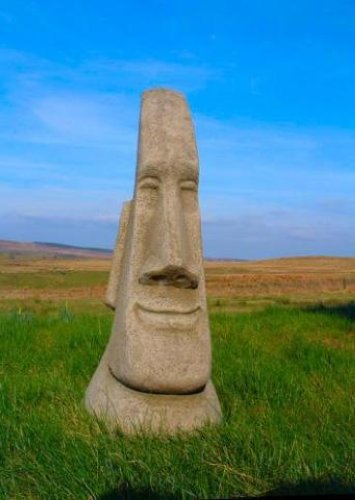 quality large easter island moai head garden statue. Black Bedroom Furniture Sets. Home Design Ideas