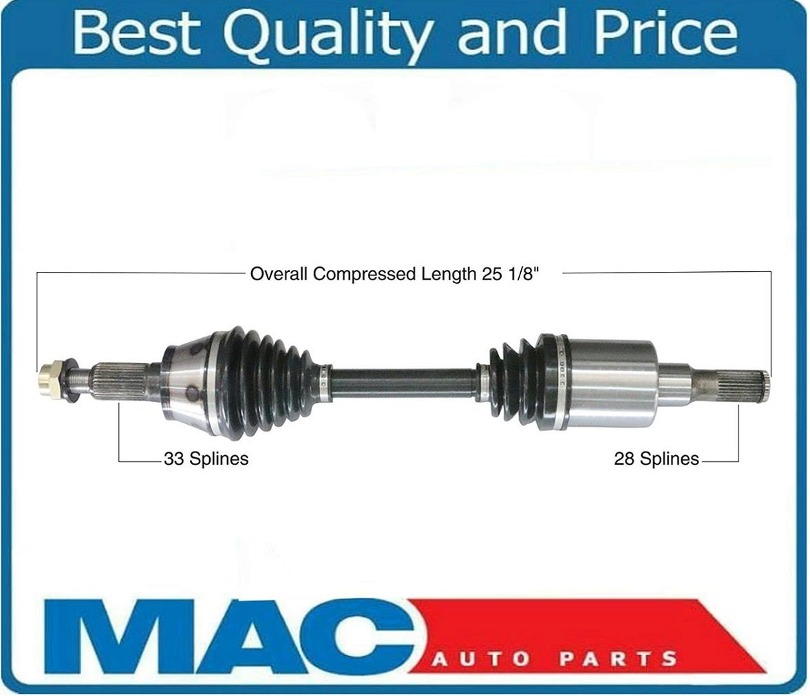H3T 2006-10 Front Left or Right New CV Drive Axle Shaft Fits Hummer H3