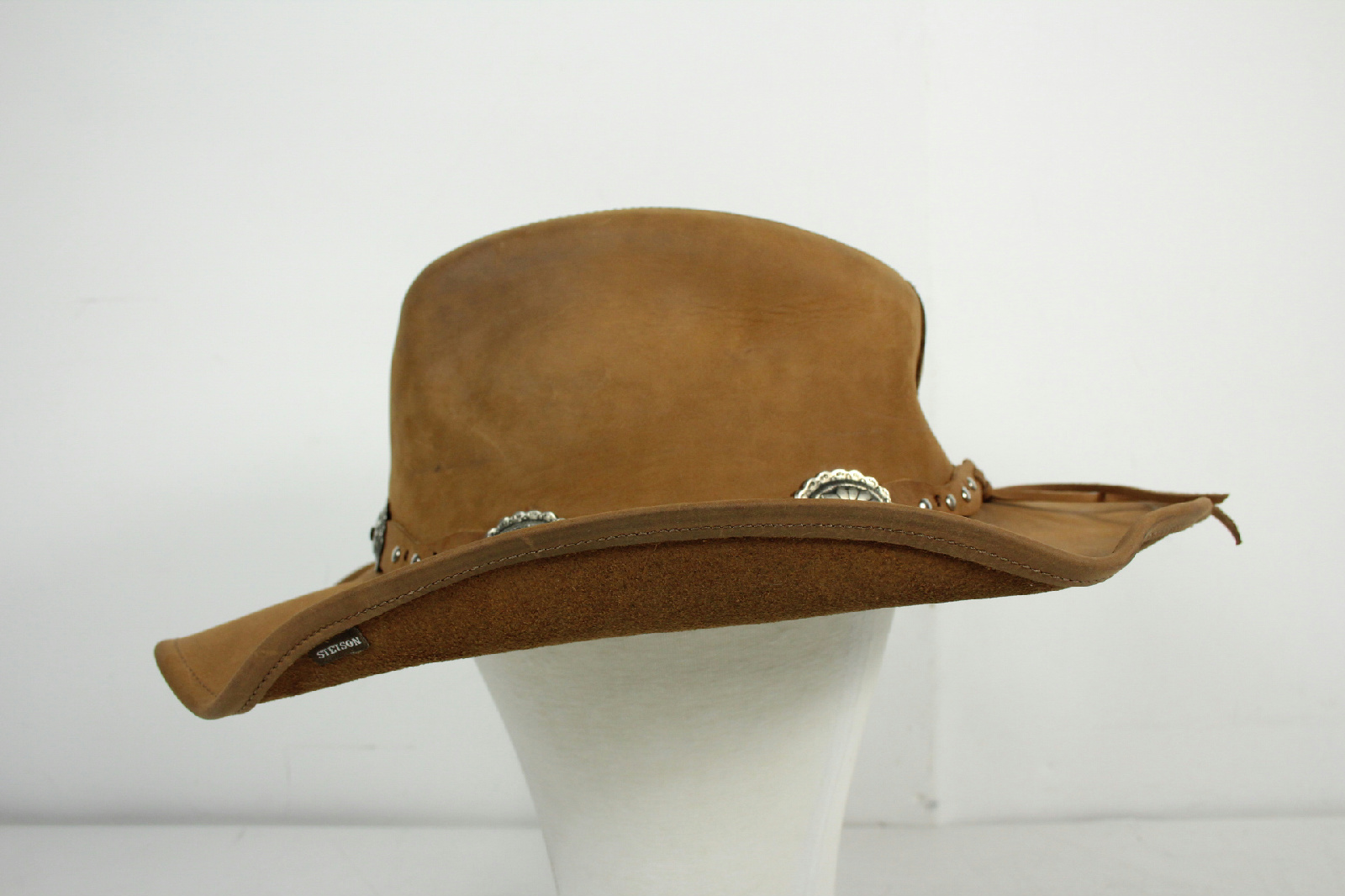 1718a3ff6b9f8 Stetson Rodeo Dr Collection Brown Embellished Cowboy Hat Size XL 8 8 of 10  ...
