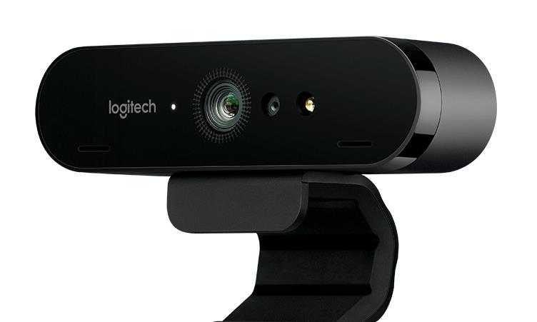 Logitech 4K Ultra HD Pro Brio Video Conferencing Webcam 5x Zoom for