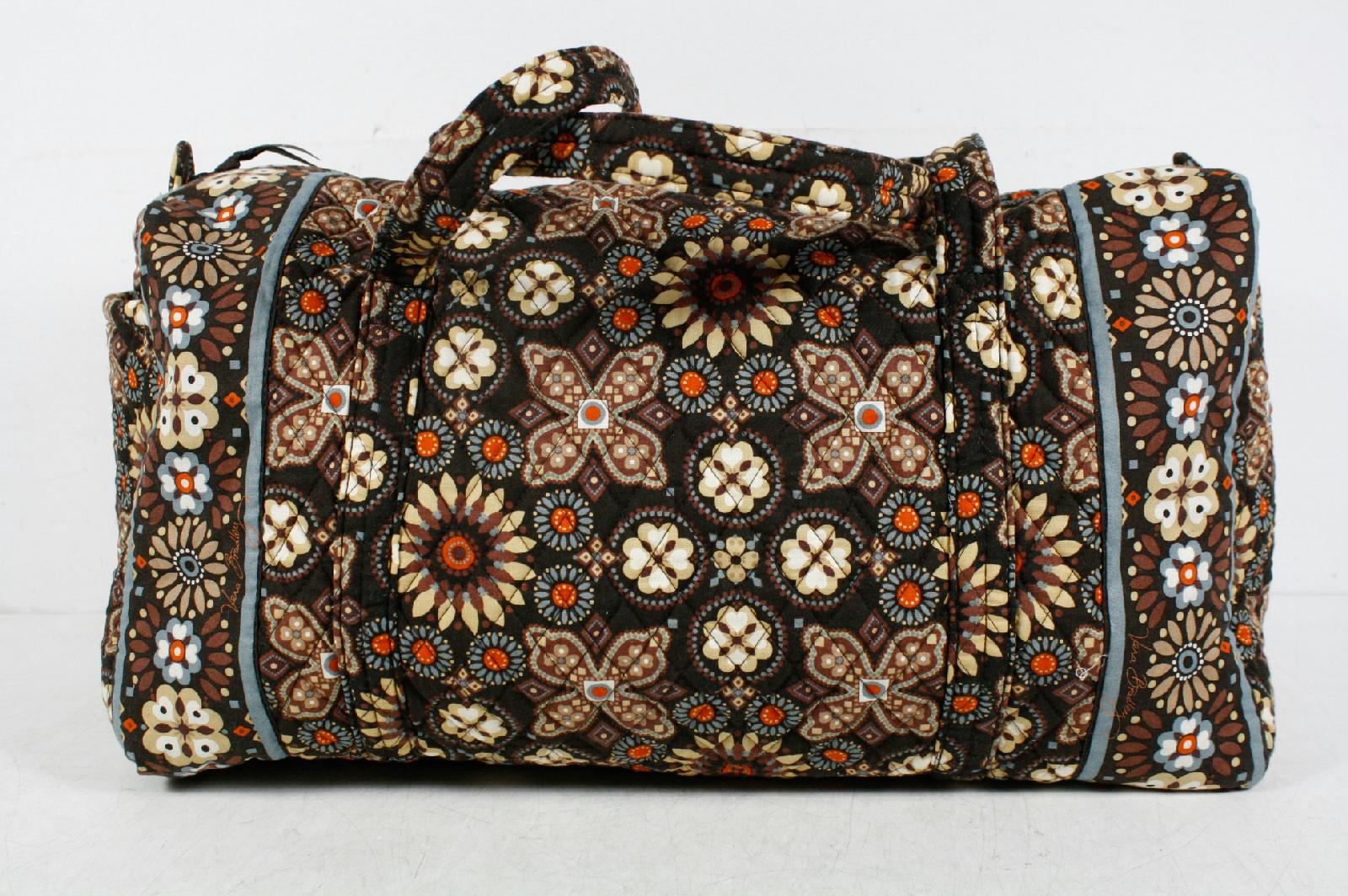 Vera Bradley Multicolor Cotton Floral Plaid Large Duffle Bag   EBay