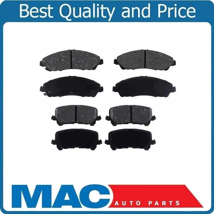 Front & Rear Ceramic Brake Disc Pads 2Pc 1723 1724 For
