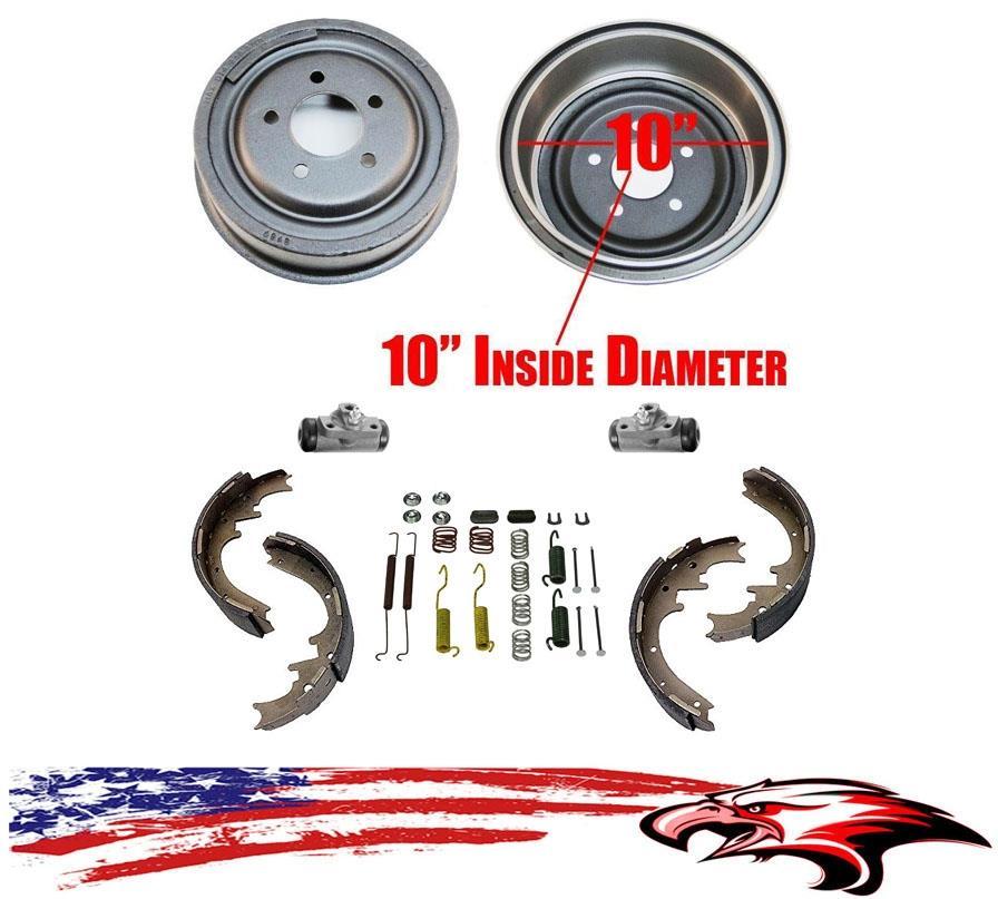 Brake Drums Shoes Spring Wheel Cylinder Ranger 01-02 B2300 B3000 B4000 10inch