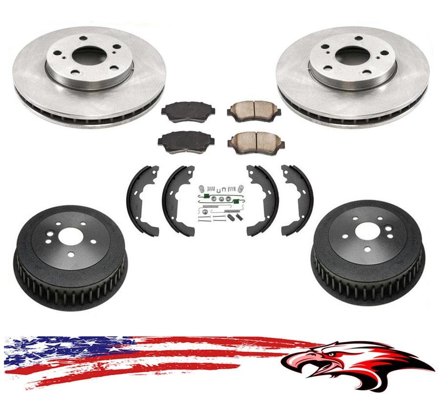 "Fits For 98-00 Ranger W Standard Rear 9/"" Brake Drums /& Shoes W//C Springs 6pc Kit"