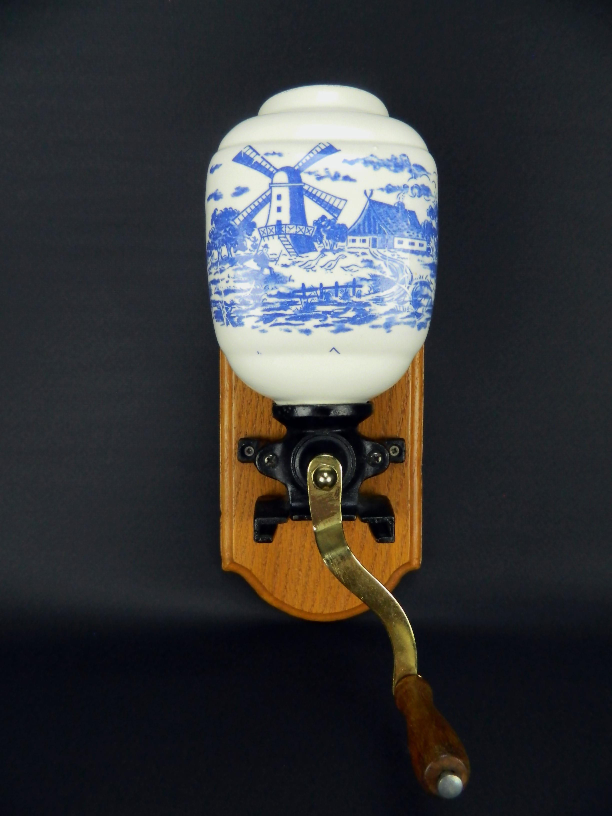 Vintage Delft Windmill Dutch Blue Amp White Porcelain Wall