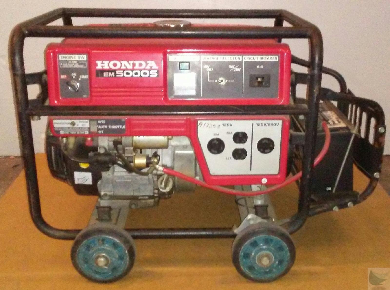 honda em5000s gasoline generator 5000 watts 120 240v. Black Bedroom Furniture Sets. Home Design Ideas