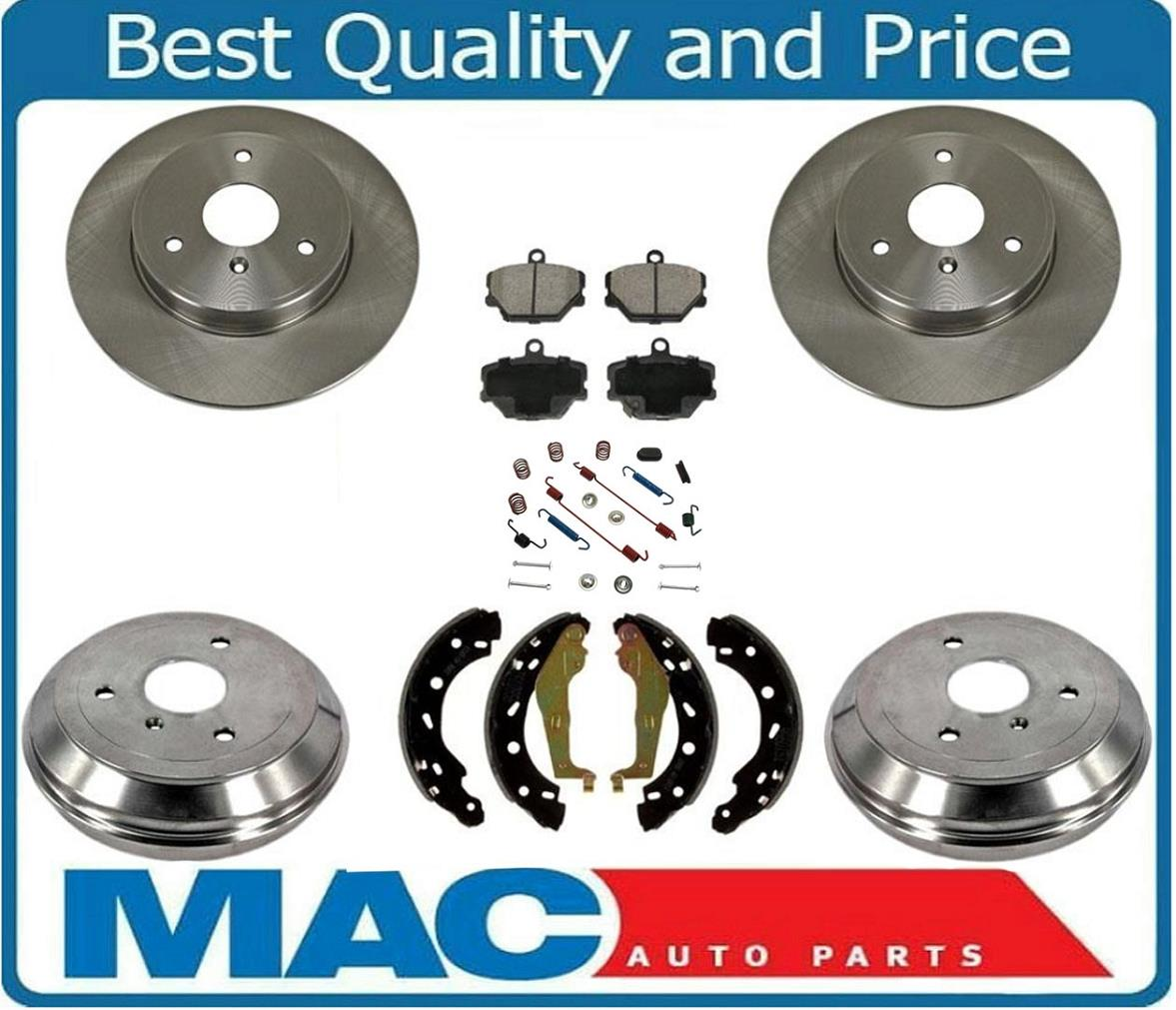 for 05-15 Smart Car Fortwo 100/% All New Brand New Brake Drums /& Rear Brake Shoes