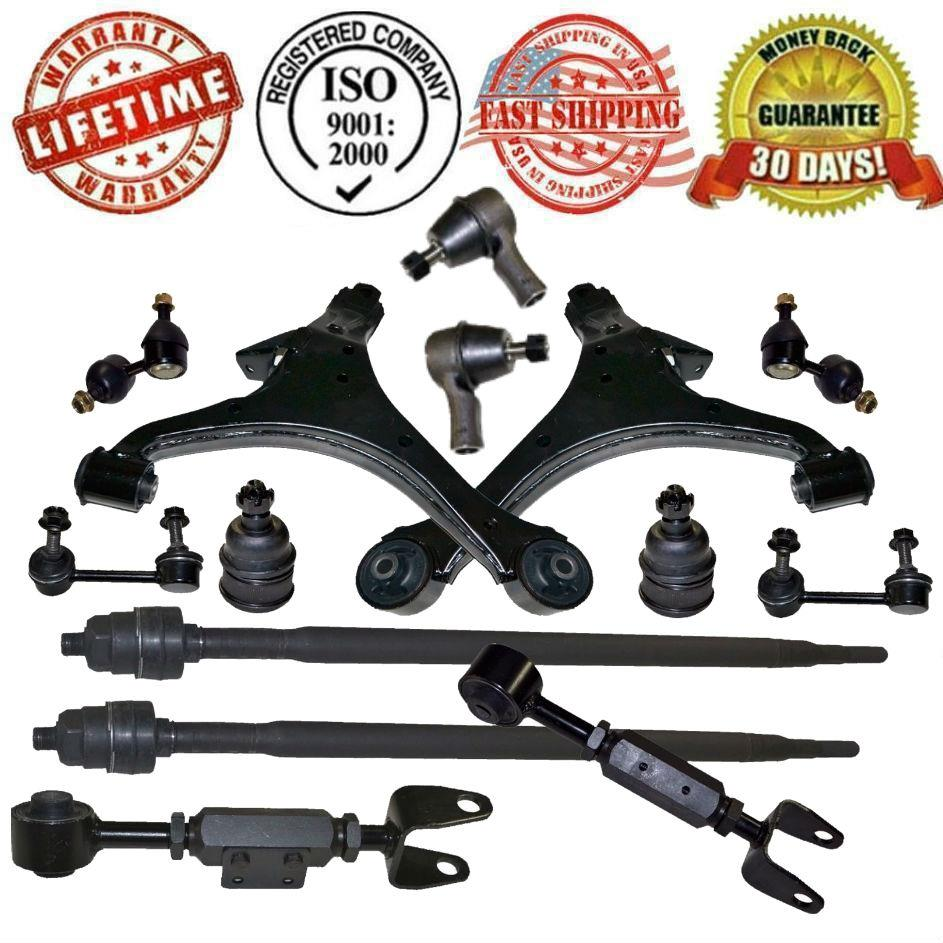 TSX 04-08 2.4L Front Control Arms Sway Bar Links Lower Ball Joints /& Tie Rods
