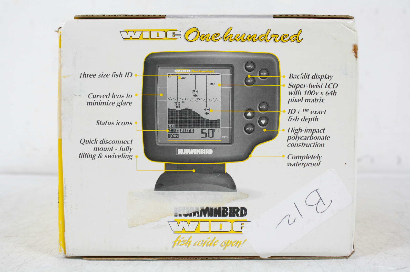 Humminbird wide 100 portable fish finder with power case for Humminbird portable fish finder