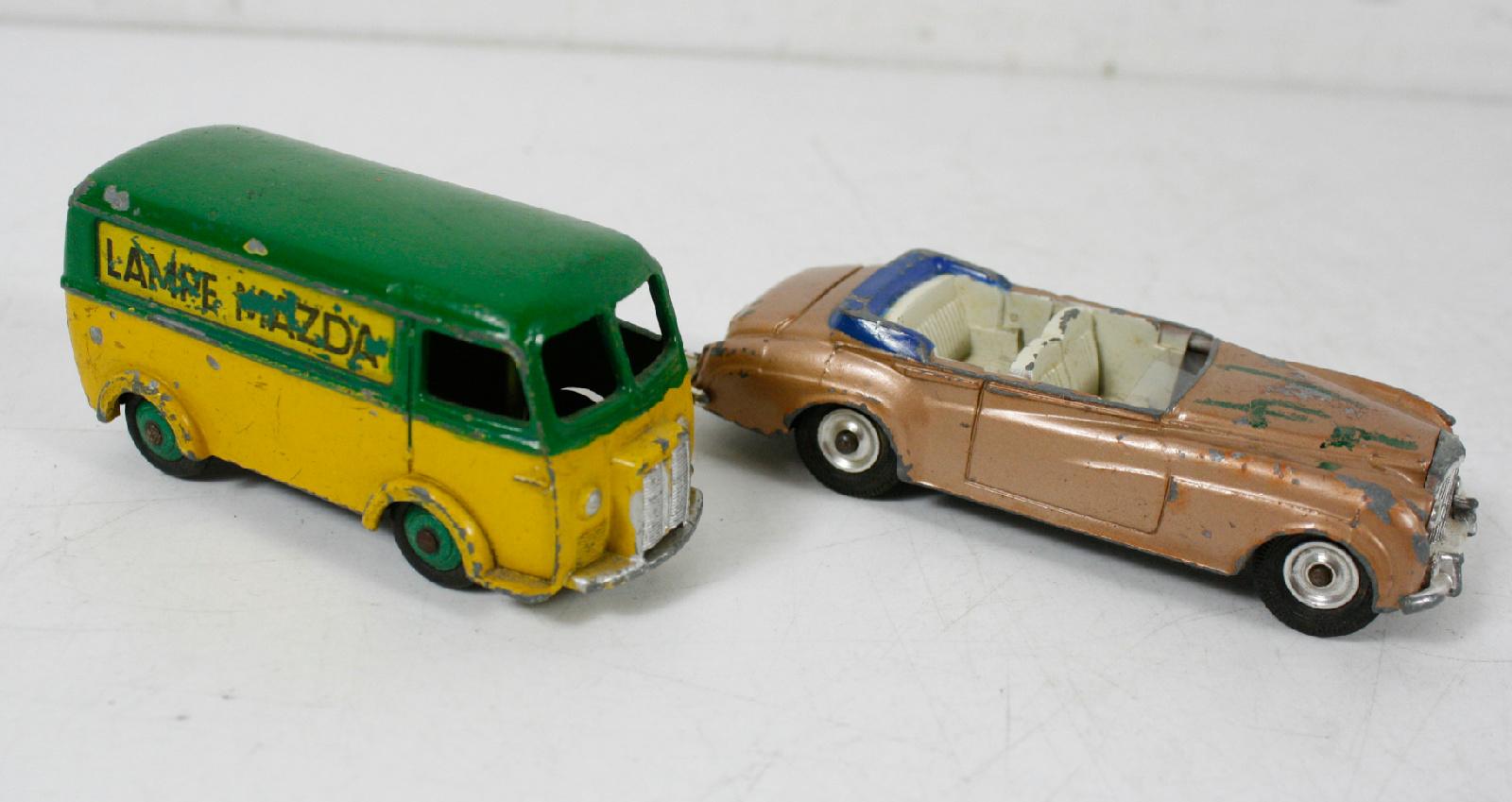 dinky toys rare diecast repair restoration car lot of 9 bentley s2 jaguar e type ebay. Black Bedroom Furniture Sets. Home Design Ideas