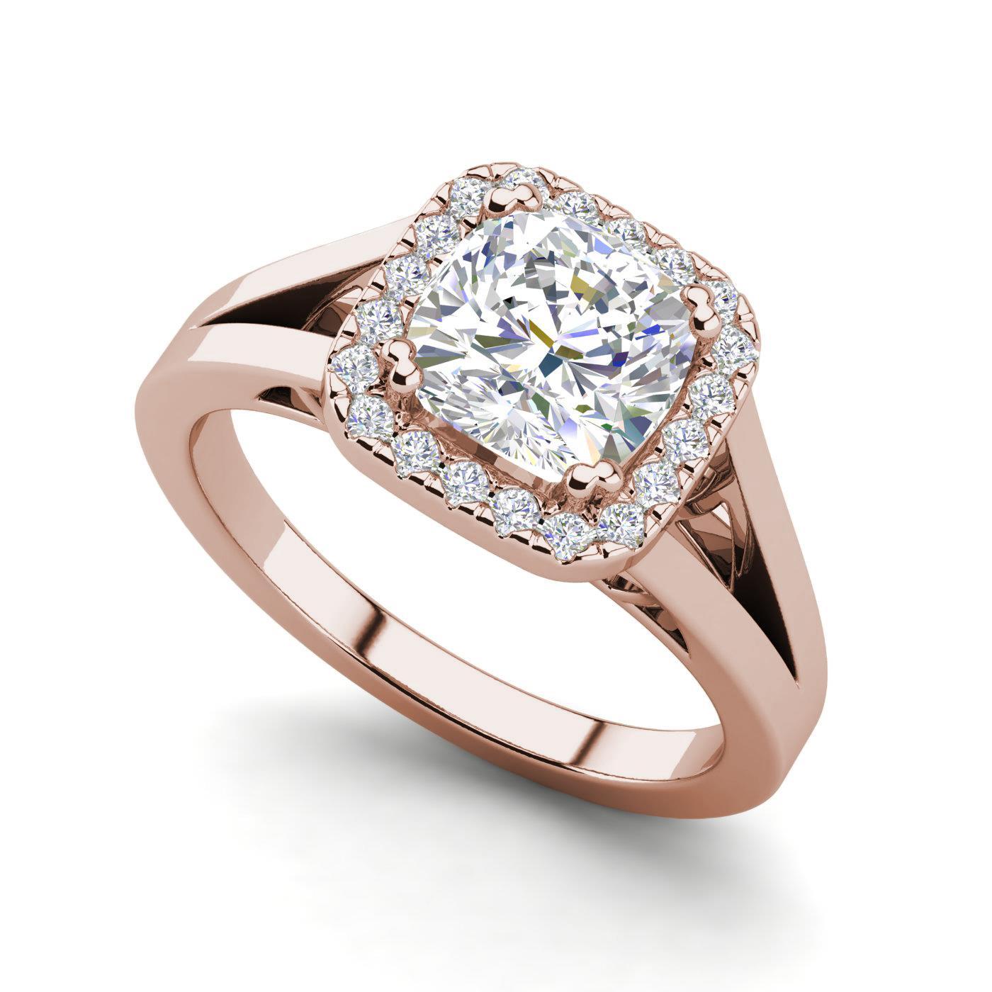 halo split shank 1 25 carat vs2 f round cut diamond