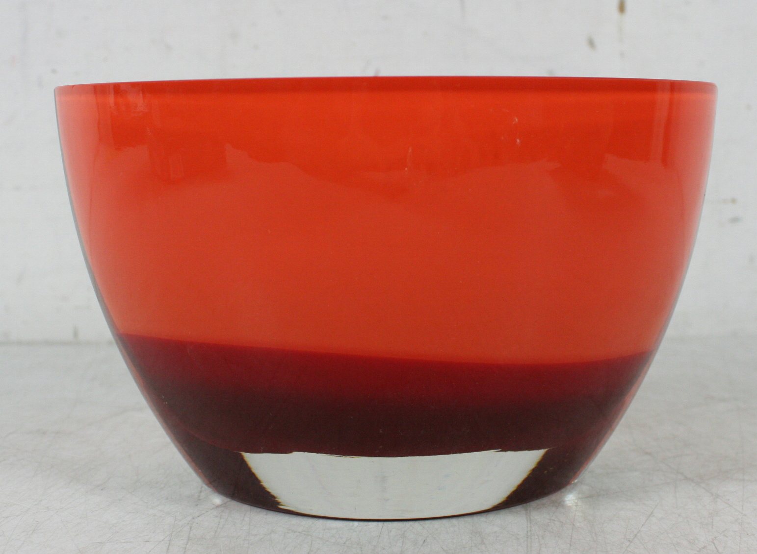 Evolution By Waterford Red Amber Beautiful Heavy Art Glass Oval Vase 5 Quot X8 Quot 4lb Ebay