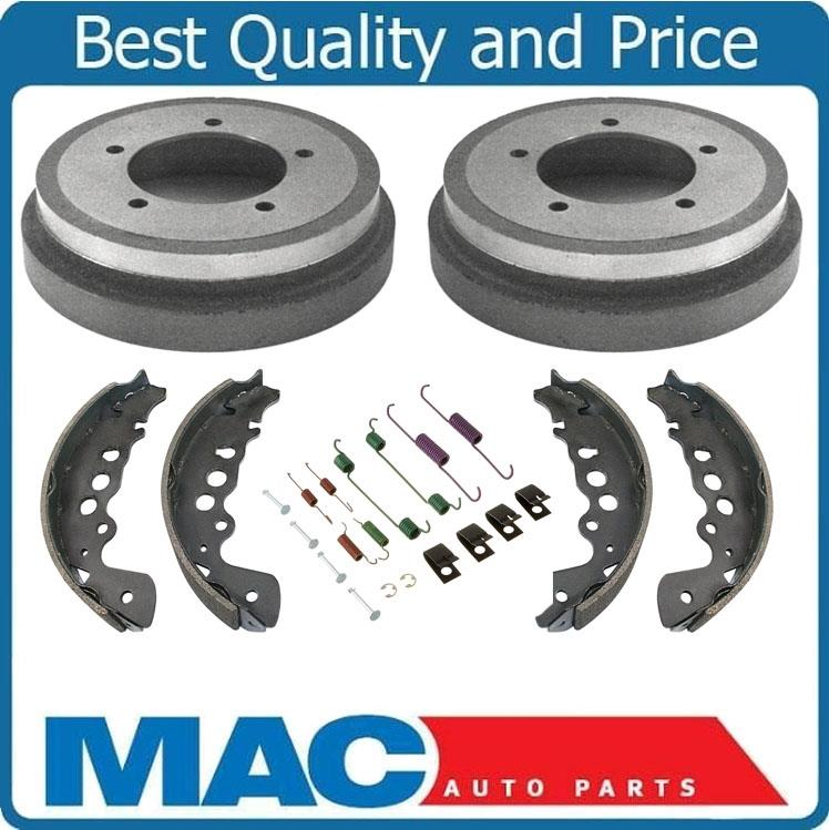 2 100/% New Rear Brake Drum Drums /& Brake Shoes 3pc fits For 2002 Jeep Liberty