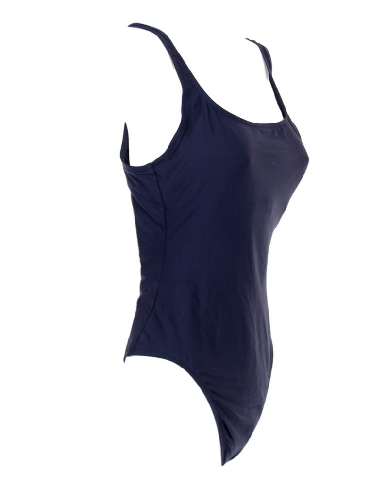 J.Crew $98 Plunging Scoopback One-Piece Swimsuit Italian Matte 4 Navy Blue F8848