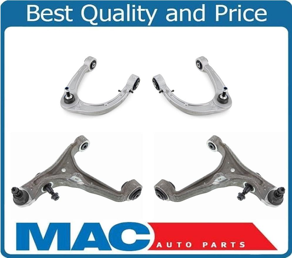 4 Front New Upp & Lower Control Arm W/ Ball Joint Set For