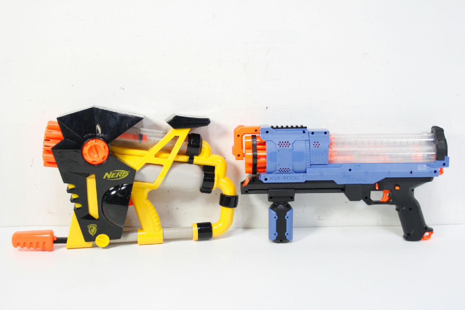 2 Nerf Guns Dart Blaster Rival Xvll-300 Rapid Fire As-20 N-Strike Air Pump