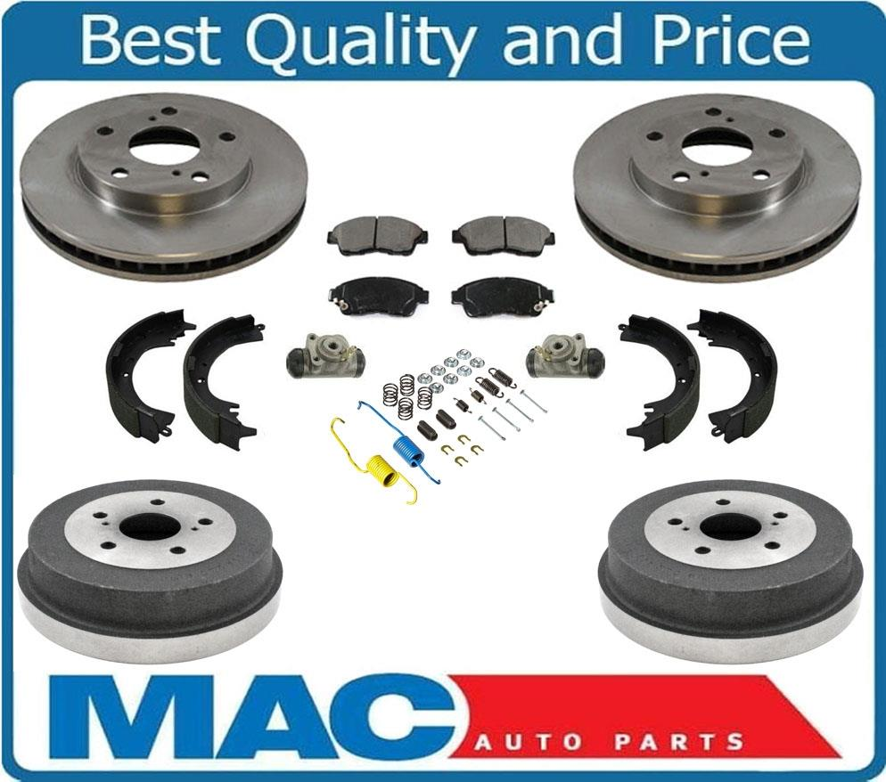 1999 Toyota Camry Brake Pads: Front Rotors Pads Rear Drums Shoes Spring Wheel Cylinders