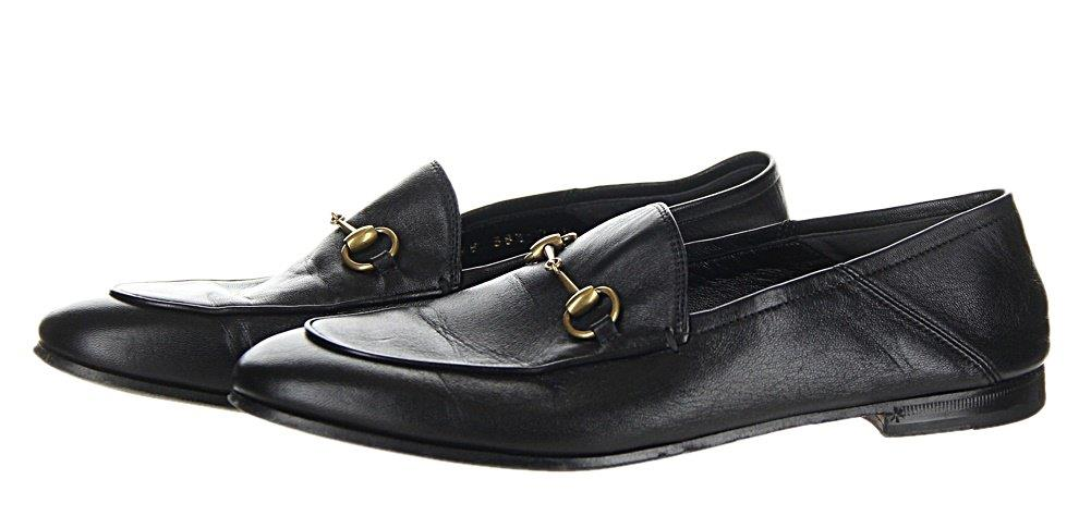 945f493f9c7 Gucci Crushback Brixton Leather Horsebit Loafer Black Size 38.5