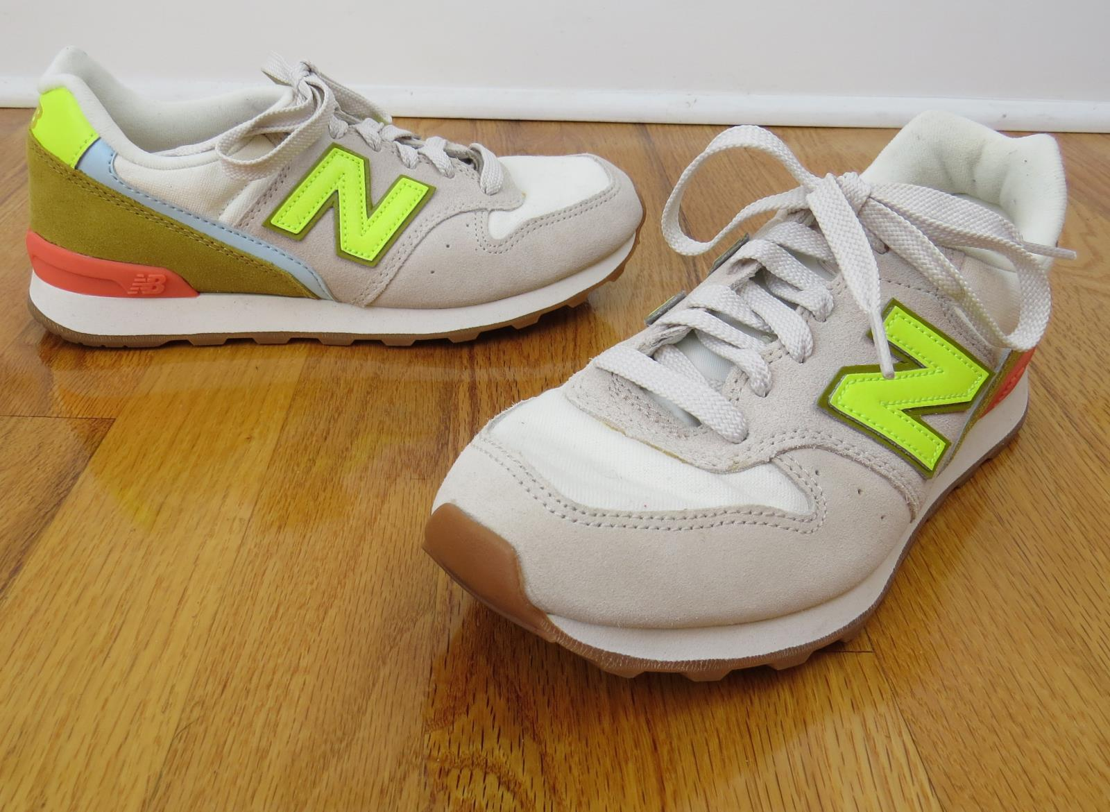 Details about JCrew X New Balance Collab Girls' 996 Sneakers Youth F1390 $65 Natural K6 TOE