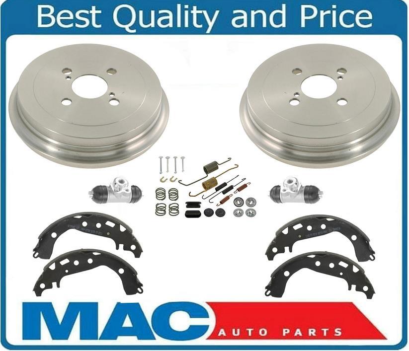 Rear Brake Drum Drums /& Shoes /& Springs Wheel Cylinders 2 02-06 Sentra 1.8L